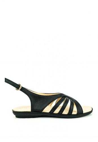 Cardam's Lifestyle black Amara Flat Sandals F28A7SH43F48A6GS_1
