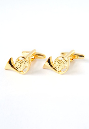 Splice Cufflinks French Horn Music Instrument Cufflinks SP744AC12DPRSG_1