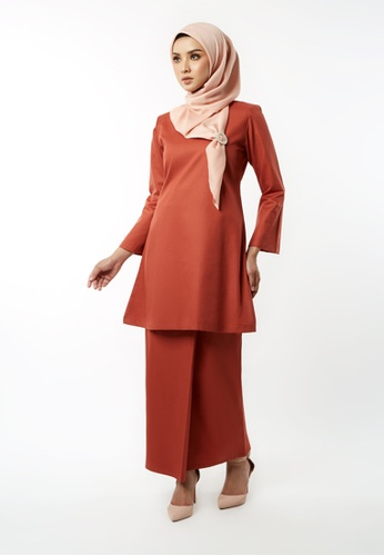 Inhanna orange GULINEAR Kurung Riau Burnt Orange B1E38AA8D80A18GS_1