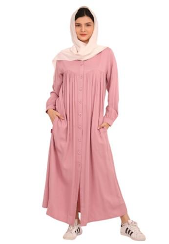 Jual Rilley Baju Gamis Polos Pink Syar I Rayon Dress Rayon Twill Terbaru Fashion Muslim Syari Wanita Terbaru Original Zalora Indonesia