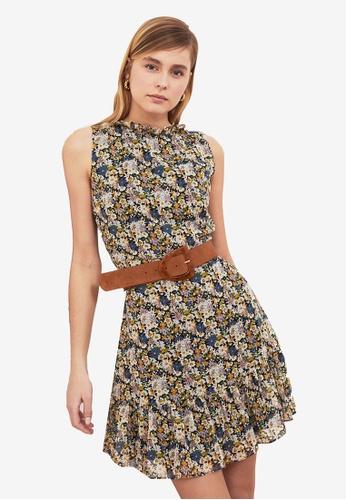 Trendyol multi Printed Ruffle Hem Dress 8EB89AABFB5D89GS_1