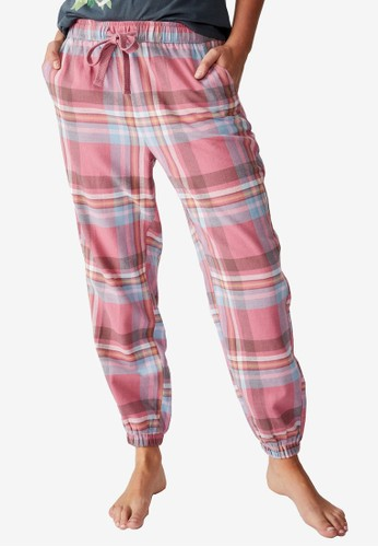 Cotton On Body pink Flannel Sleep Pants 25A84AAF5004D1GS_1