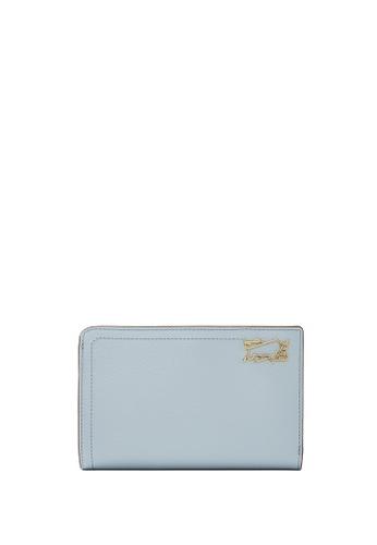 Braun Buffel blue Thonet 2 Fold 3/4 Wallet with External Coin B1ADEAC636201DGS_1