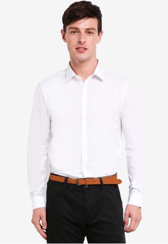Burton Menswear London 白色 2 Pack White Slim Fit Easy Iron Shirts 38E14AAA333A04GS_1