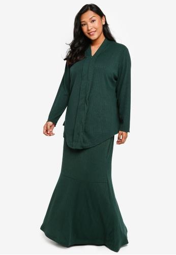 CURVA FABULOUS green Ms Umairah Bodycon Kebaya Kurung F7E84AA34E371CGS_1