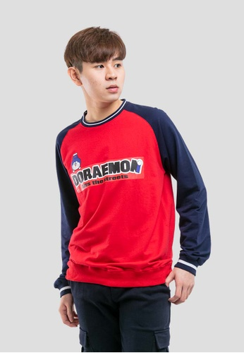 FOREST red Forest X Doraemon Printed Round Neck Pull Over 3E398AA805B854GS_1