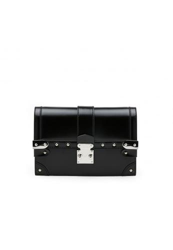 Pazzion black Metallic Chain Crossbody Bag 2DCDAACAED7A31GS_1