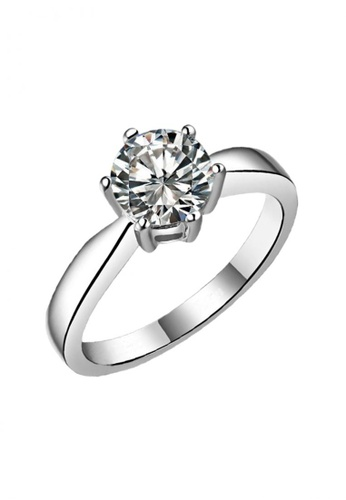 Elfi silver Elfi 925 Genuine Silver 0.5ct Engagement Ring R8. The One and Only EL186AC61SYWMY_1