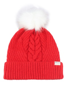 18462d674b9 Jack Wills red Dorchester Cable Beanie CCE33AC96B42ECGS 1