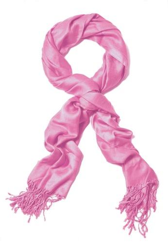 SHINE pink Premium Pashmina Shawl - PINK AF645AAABBCFEDGS_1