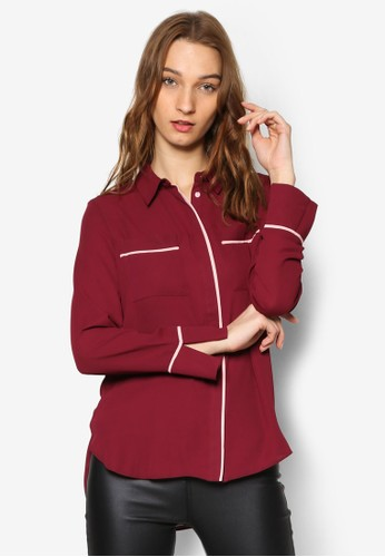 寬鬆線條襯esprit holdings衫, 服飾, 上衣