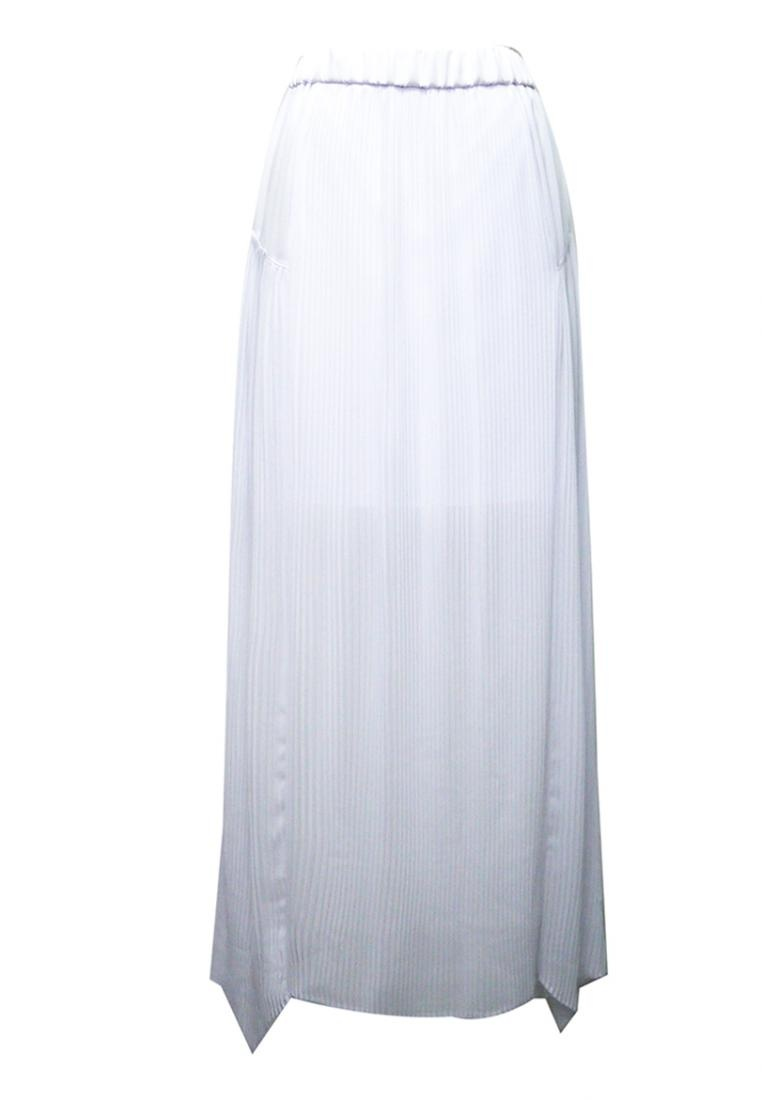 White NINETEENEIGHTY White Skirt Pleats Chiffon Pleats Chiffon Skirt NINETEENEIGHTY NINETEENEIGHTY 4zACqaBw
