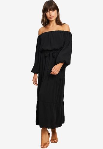 Tussah black Loni Midi Dress C8ACEAA08631E5GS_1