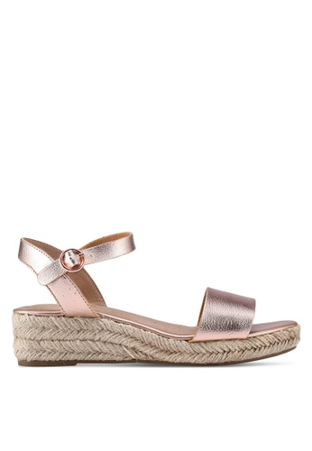 Dorothy Perkins gold Rose Gold Riana Wedges 7B04FSHA91F2D8GS_1