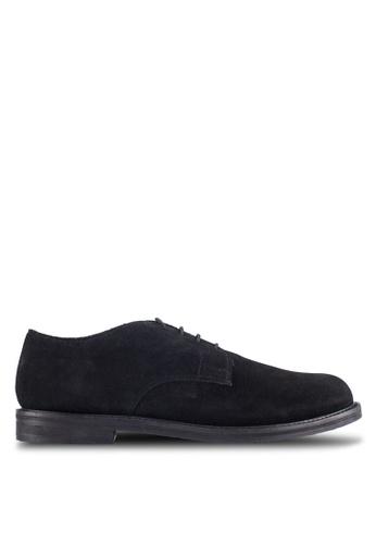 KG Kurt Geiger black Hector Suede Lace-Up Shoes KG303SH0RIAVMY_1