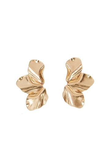 Parfois gold Gold Flower Earrings 232EBAC993EAAEGS_1