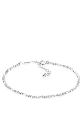 ELLI GERMANY silver Elli Germany Bracelet Chain Figaro Basic Blogger Trend 925 Sterling Silver 96DB5ACDFEAFCEGS_1