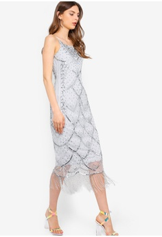 f1f8bb6b7c 42% OFF Frock and Frill Microchip Grey Embellished Dress S$ 308.90 NOW S$  178.30 Sizes 6 8 10 12 14