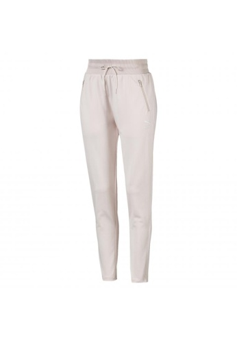puma pink Classics Poly Knitted Women's Track Pants 392D3AA27EC6FAGS_1