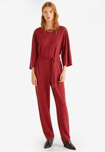 Mango red Bow Long Jumpsuit 51D23AA1898814GS_1
