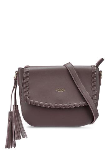 Unisa purple Weave Fashion Sling Bag 86828AC0B70085GS_1