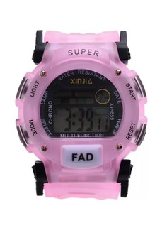 Digital Waterproof Watch XJ-659PINK
