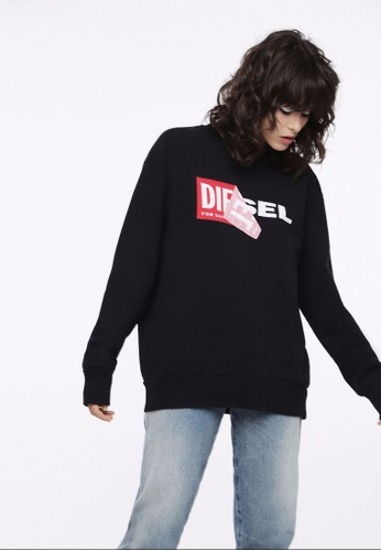 Diesel black F-Samy-Fl Sweatshirt 4815EAAB737445GS_1