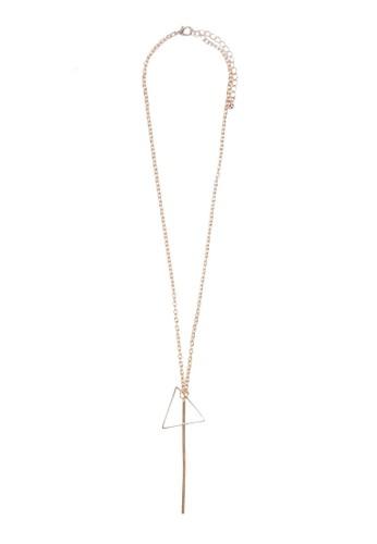 三角鐵吊飾項鍊, zalora 心得飾品配件, 項鍊