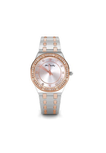 Her Jewellery silver Diamond Knight Watch - Made with premium grade crystals from Austria 07995AC8611E95GS_1