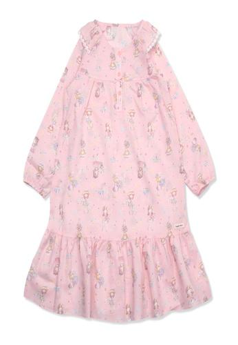 Organic mom pink Organic Cotton Lily Floral Lightweight Long Sleeves Pjs FA1B9KA48158B1GS_1