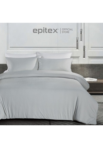 Epitex grey Epitex Extra Cooling Cryocool Wrap-Fit Collection CY3303-03 Grey FItted Sheet (w/o quilt cover). 4A1BCHL1BC4CD2GS_1
