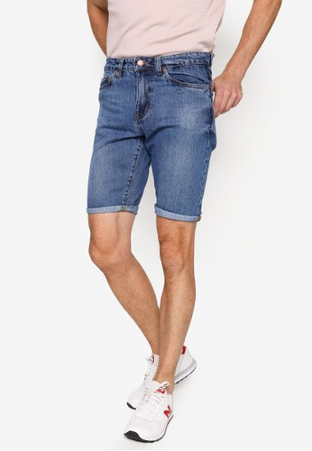 Electro Denim Lab blue Denim Shorts 4CD8FAAF3A14CBGS_1