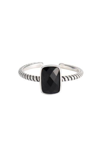 OrBeing 白色 Premium S925 Sliver Geometric Ring DDA50AC0E25AABGS_1