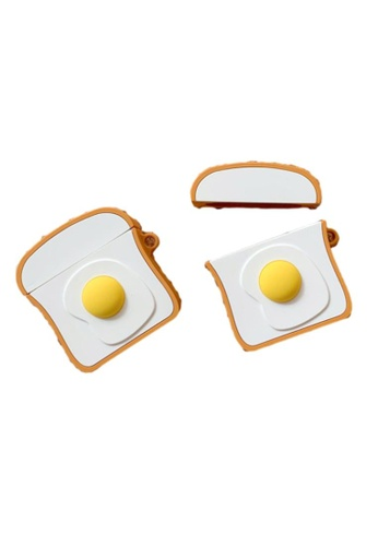 Kings Collection yellow Egg Yolk Toast Airpods Case (KCAC2090) ADE52AC0EDF06AGS_1