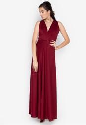 Tantease red Marita Long Dress 3D463AAA2F4CFBGS_1