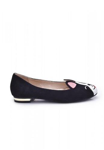 Elisa Litz black Pug Flats (Black) EL365SH53ZGCSG_1