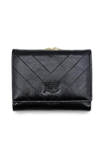 RUCINI black Rucini Ladies Short Tri-Fold Kiss Lock Wallet 6FA77AC5EC5484GS_1