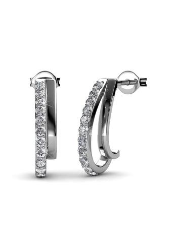 Her Jewellery silver Swarovski® Crystals - Joyce Earrings (18K White Gold Plated) Her Jewellery HE581AC0RDGIMY_1