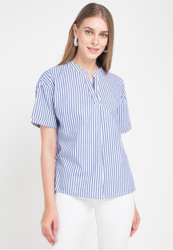 X8 blue and multi Dania Blouses DF3A5AAD0A7667GS_1