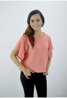 Shaina Fluttered Short Sleeves Top