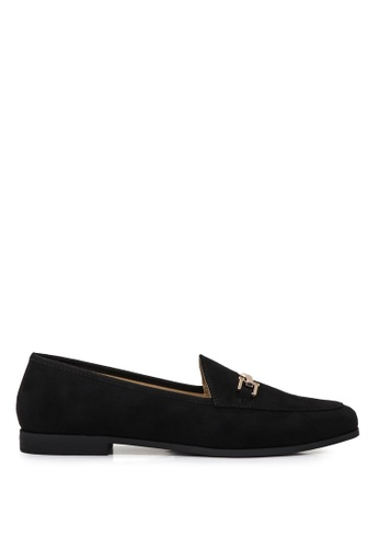 London Rag black Solid Colored Faux Suede Loafers 06085SH258477AGS_1