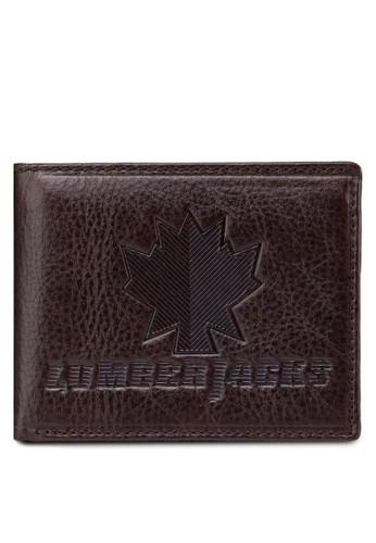 Lumbesprit 內衣erjacks 壓紋對折皮夾, 飾品配件, 皮革