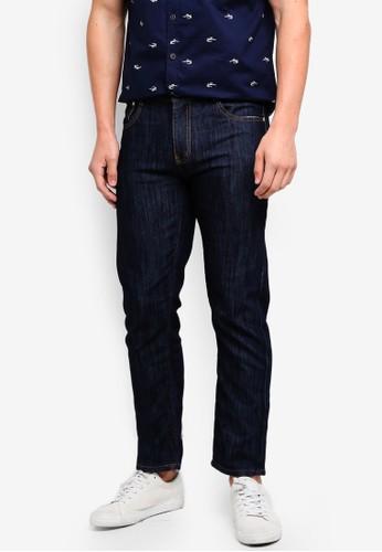 Fidelio blue Slim Straight Casual Denim Jeans 9ADACAA676EF36GS_1