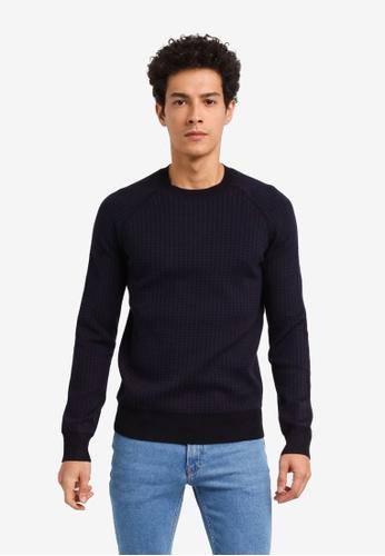 MANGO Man 藍色 長袖針織衫 ED855AAE2B79D8GS_1