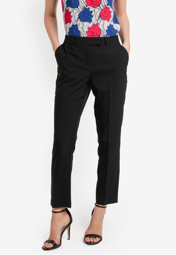 Dorothy Perkins black Short Tab Front Poly Trousers DO816AA0RA71MY_1