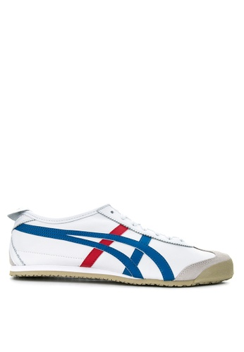 Onitsuka Tiger white and blue Mexico 66 Leather Sneakers ON625SH31THWPH_1