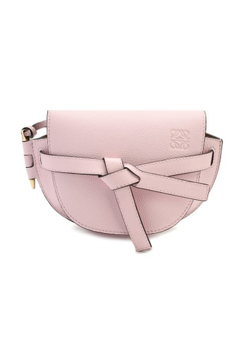 Loewe pink Loewe Mini Gate Crossbody Bag in Icy Pink 84FB0ACC56CBE9GS_1
