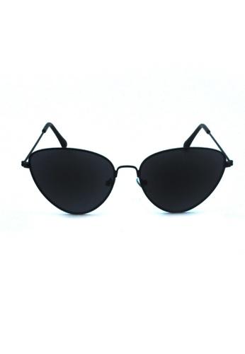 2i's to eyes black Sunglasses│Cat eye│Black Frame Black Lens│UV400 Protection│2is TaiII 1BD1DGLEBB339EGS_1