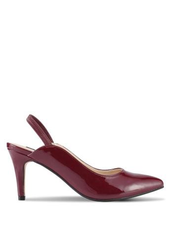ZALORA red Classic Slingback Heels 72409SHD5935F2GS_1