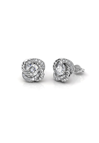 Her Jewellery silver Swarovski® Crystals - Anne Earrings (18K White Gold Plated) Her Jewellery HE581AC91JVGMY_1